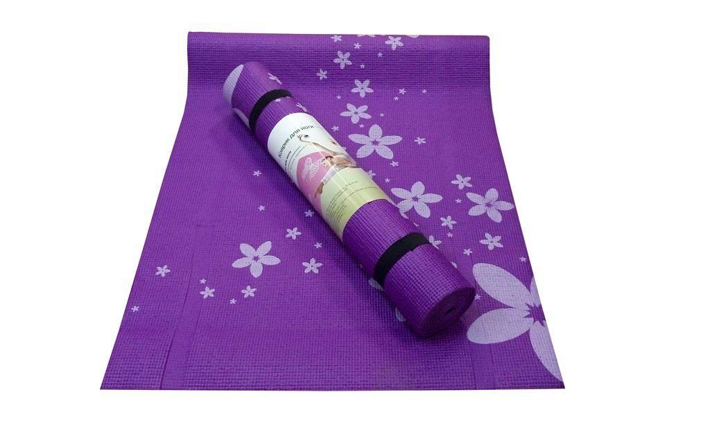 Купить коврик для йоги «Flower» в Москве. Магазин Два йога. Доставка ... 270ba242a56